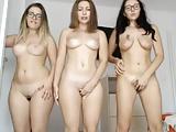 3 novinhas gozando na frente da webcam