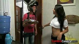 Morena Safada dando pro entregador de pizza